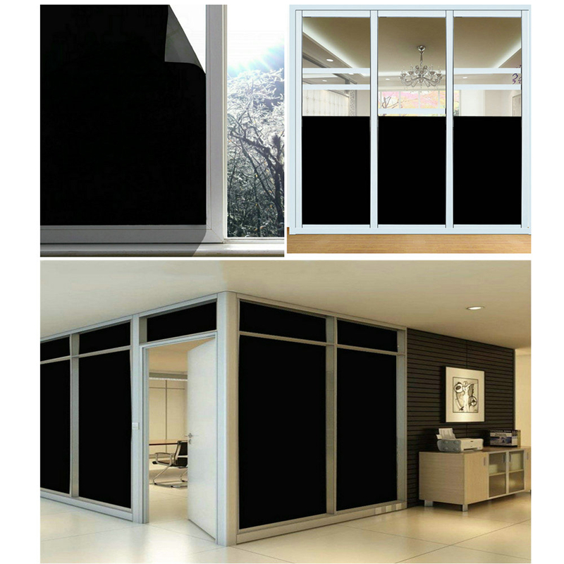 Solar Window Film >> Details About Black Solar Window Film Glass Sticker Home Office Decor Privacy Heat Proof Y