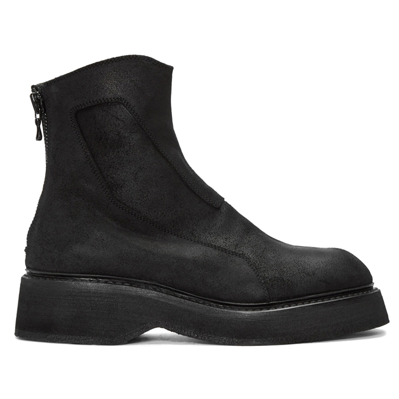 Winter Men's Boots Cotton and Leather Martin Brand Boots British high Kanye west Shoes Men Motorcycle black boots