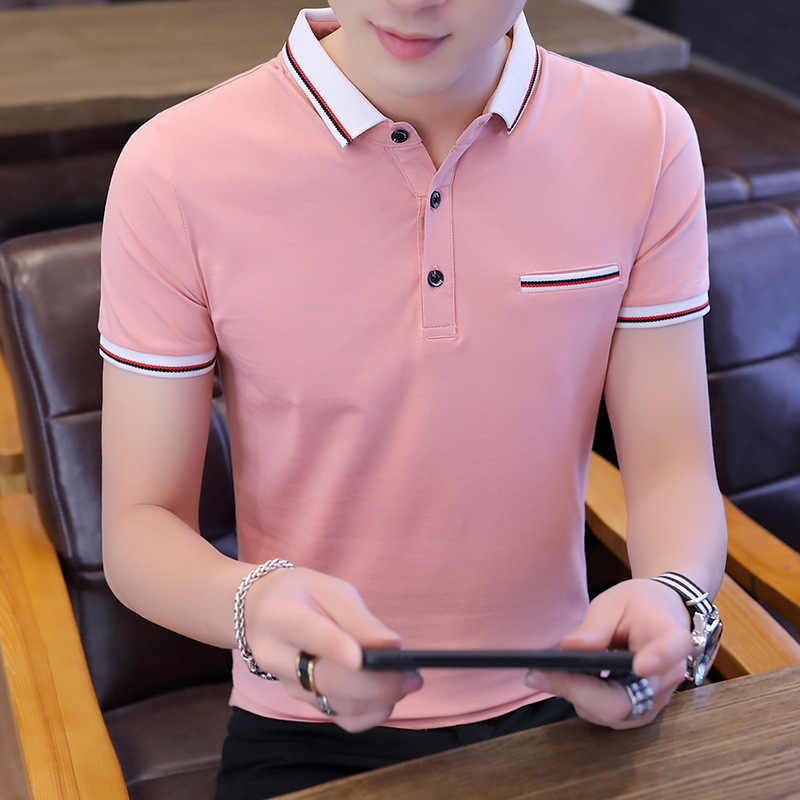 Polo shirt mannen Solid turn-down kraag kleding 2019 Zomer truien Golf Tennis Polo casual harajuku camisa polo masculina tops