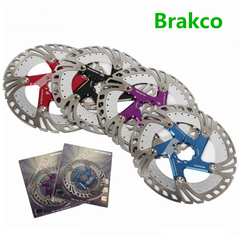 Brakco Bicycle Brake Disc Rotor DR-11FA 160/180/203mm Mountain MTB Bike Floating disk cable parts made in TAIWAN original 2018 fouriers 140mm 160mm 180mm 203mm mtb bike brake disc rotors hydraulic mechnical mountain bicycle disc brake rotor