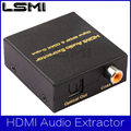 Free shipping High quality HDMI Audio Extractor 5.1 digital spoif ,coaxial output  HDMI to spdif converter,