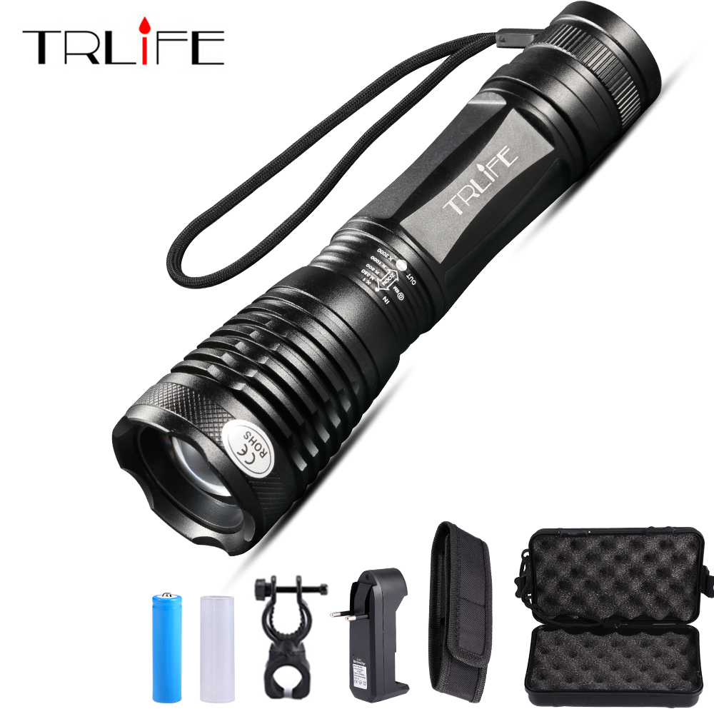 10000 Lumens LED Flashlight Adjustable Focal Lamp T6 Rainproof Tactical Torch for Camping Light Use Rechargeable 18650 Battery10000 Lumens LED Flashlight Adjustable Focal Lamp T6 Rainproof Tactical Torch for Camping Light Use Rechargeable 18650 Battery