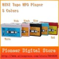 Free shipping New Arrival High quality MINI Tape MP3 Player support Micro SD(TF) card  Hot sale 20pcs/lot 5 colors