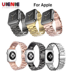 Stainless-Steel-Strap Bracelet-Band Apple Watch Iwatch-Series for 42mm 38mm 4-3/2-1/Metal/..
