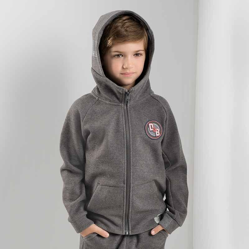 DBK8163 dave bella kids autumn coat children hooded tops baby boys letters print coat