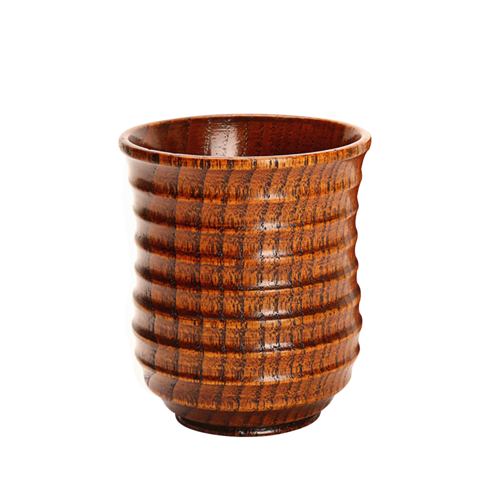Drinkware Wooden Mug Eco Friendly Suitable Decoration Wood Cup Natural Coffee Elegant Delicate Tea Water Strand Grain