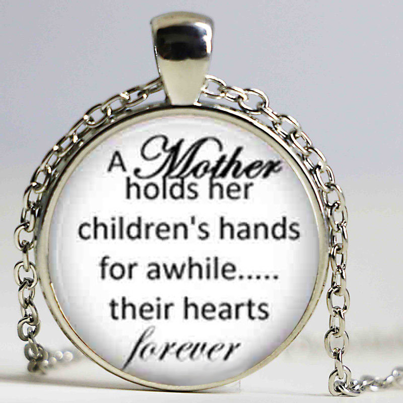 Ожерелье матери и ребенка цитаты, мать ее детских рук ювелирные изделия, подарок на день матери, мама кулон
