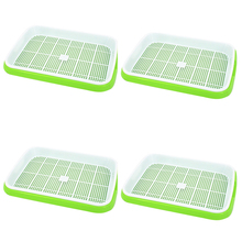 Hot Sale 4pc/set Double-layer Seed Sprouter Nursery Tray Hydroponics Basket Flower Plant Germination Box Drop