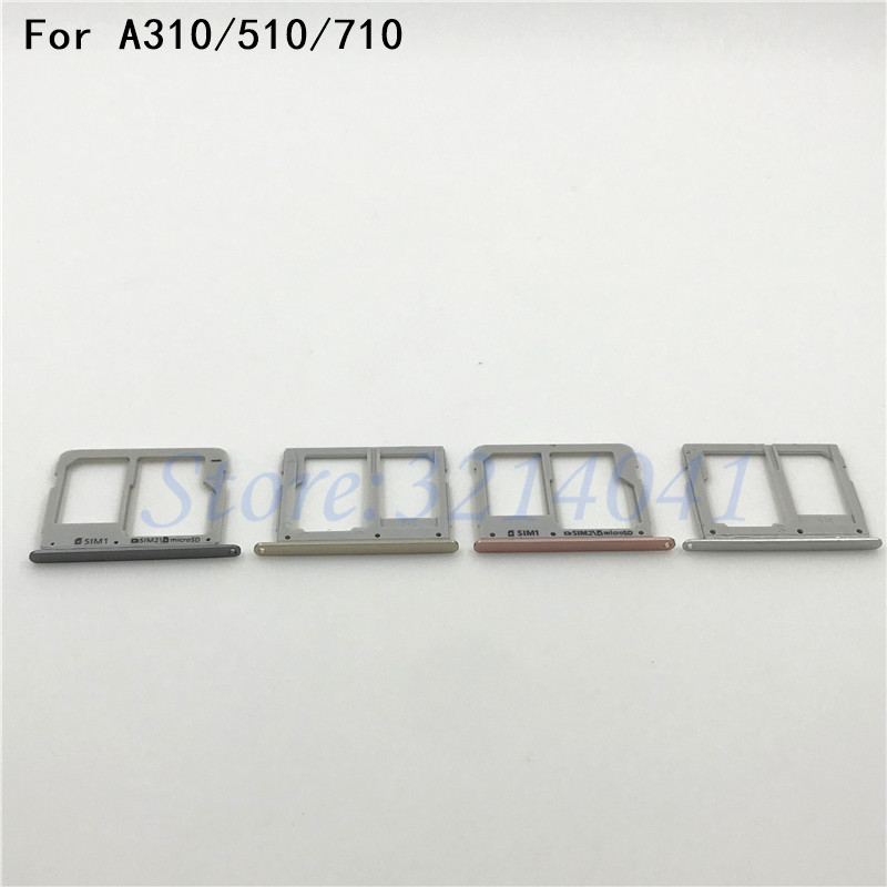 Good quality Original Housing SIM Card micro SD Tray Slot Holder For Samsung Galaxy A310 A510 A710 ( A3 A5 A7 2016 Version )