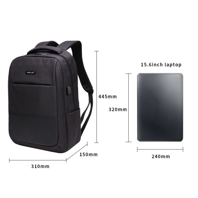 Multifunction computer USB charging 15.6 inch Laptop Backpack men School Bag Large Capacity Casual Style Water Resistant bags 1