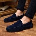 2016 Mens Zapatos de Cuero Otoño de Zapatos de Los Hombres Zapatos Planos mocasines en loafers slip on Hombres ocasionales del barco zapatos conductores hombre