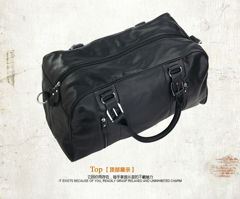 Fashion Men Genuine leather Travel Bags Men Luggage Bag real Leather Weekend  bag Duffle Bag Large Overnight Tote Handbag Big-in Travel Bags from Luggage  ... e7112b88e0