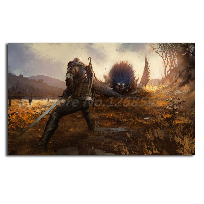Best Gift Home Art Wall Decor dogs on the hunt Oil Painting Printed On Canvas