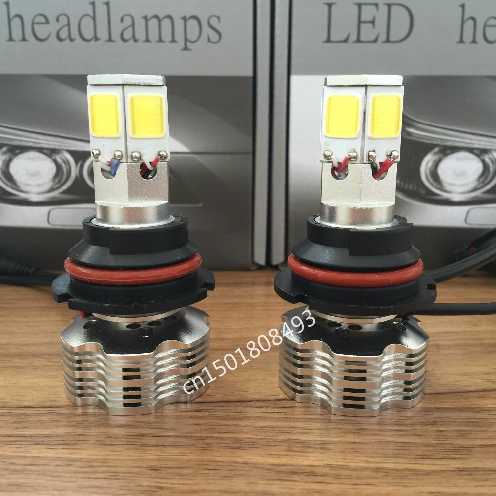 ФОТО MOSTPLUS 120W 12000lm COB LED Headlight Kit HB5 9007 Hi/Lo Beams 6000K Bulbs Pair