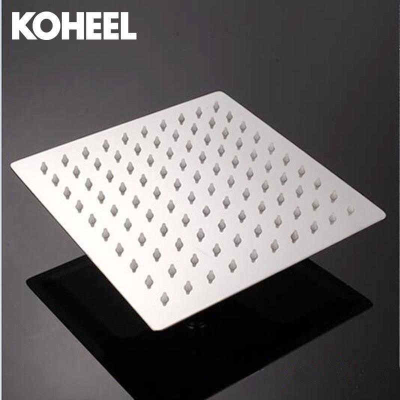 Round Square 6 inch Stainless Steel Showerhead Bathroom Shower Head Rain Ultrathin Shower Head Top Spray