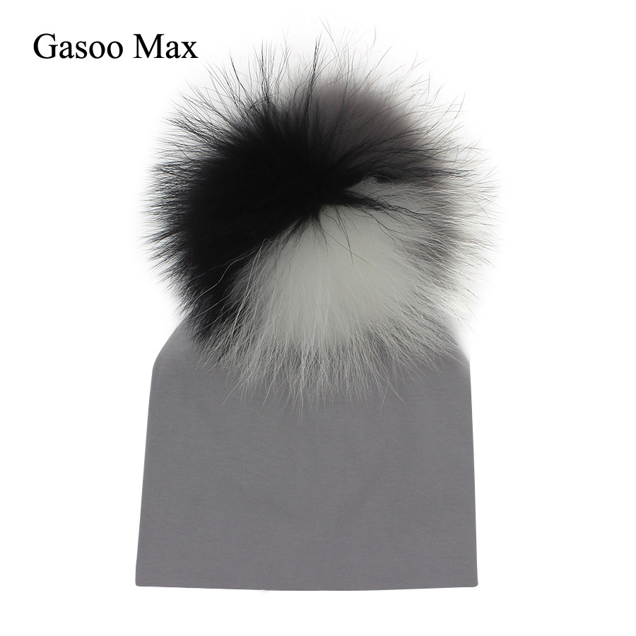 Gasoo Max Baby Cotton Girl Boy 0-2Years Newborn Kids Pom Pom Hat For Children Warm