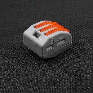 Image 3 - 100 pct213 PCT 213 222 conector compacto universal da fiação do fio de 413 pct213 alavanca do bloco terminal do condutor de 3 pinos awg 28 12