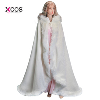 Elegant Cheap 2017 Warm Bridal Cape Ivory White Winter Fur Coat Women Wedding Bolero Jacket Bridal