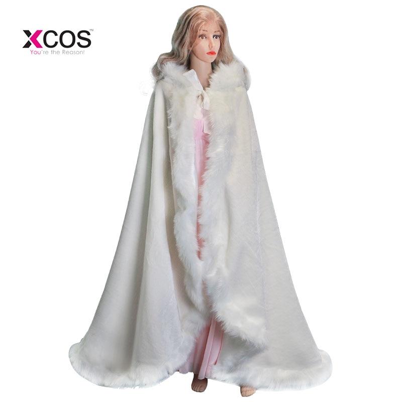 Elegant Cheap 2017 Warm Bridal Cape ivory White Winter Fur Coat Women Wedding bolero Jacket Bridal Cloaks Wedding Coat