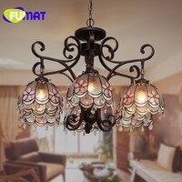 FUMAT led chandelier crystal chandelier lustre pink living room chandelier restaurant led light decoration for home lighting