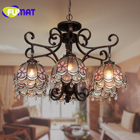 FUMAT led chandelier crystal chandelier lustre pink living room chandelier restaurant led light decoration for home lighting