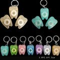 Tooth-Shaped Key Chain Type Flat-Line Portable Dental Floss Gum Care Convenient