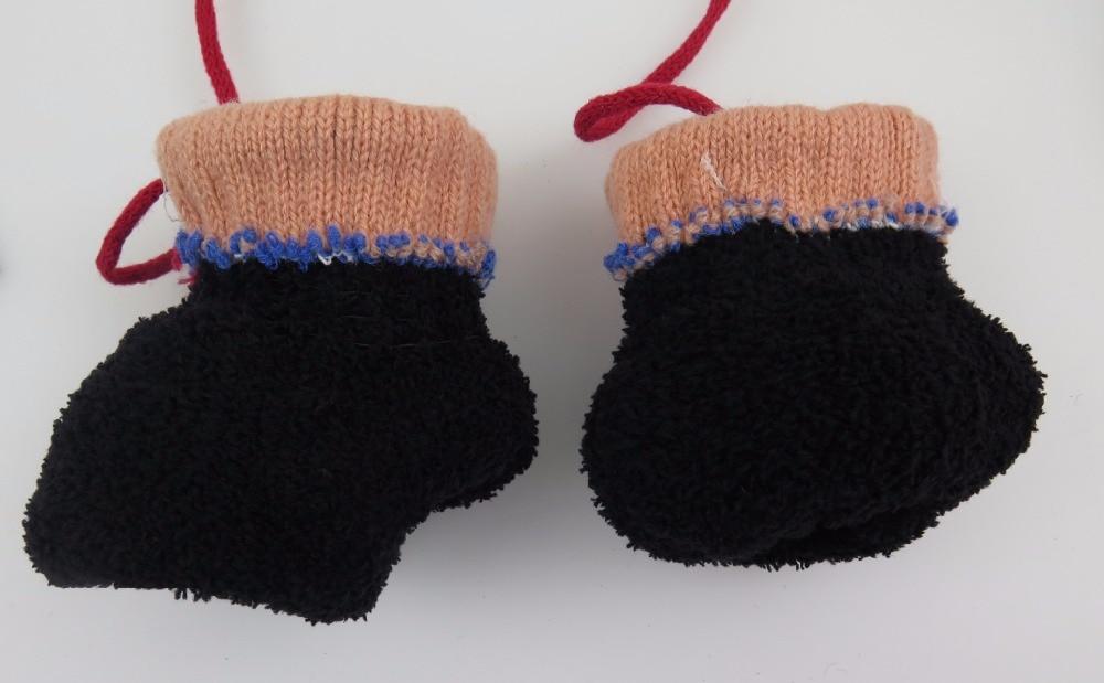 GLV905 4 7years Children neck hung font b gloves b font Cartoon bear head new knitting