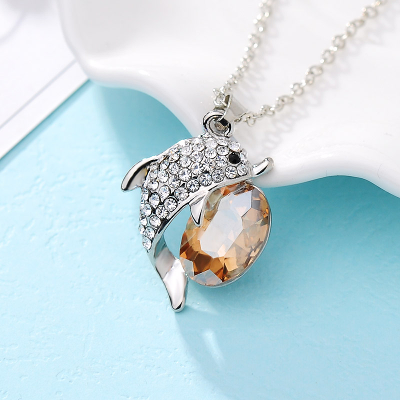 necklace silver en pendant mv topaz kay zm accents dolphin sterling kaystore diamond