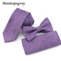 Mantieqingway Formal Tie Set For Mens Bowtie Handkerchief Neckties For Wedding Bow Ties Pocket Square Corbatas