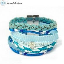 KANAK New Wrap Bracelet Magnetic Clasps Blue Brazilian Boho Bracelets Multi Strand Bohemian Ipanema Bracalets Woman