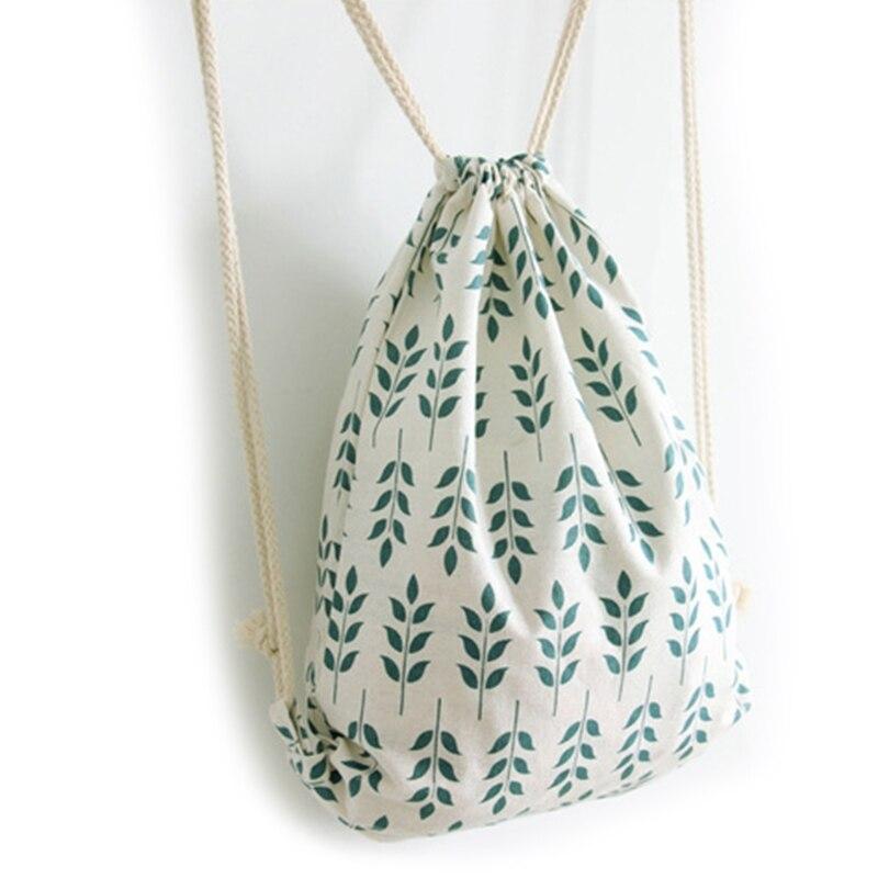 Drawstring Bag Women Bag Canvas Drawstring Print Pattern Sport Travel Outdoor School Backpack  Bags