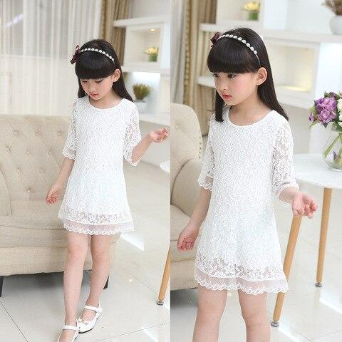 vestido de algodao dot bonito criancas vestido moda