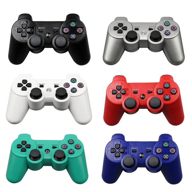 2PCS/lot Bluetooth Wireless Gamepad for Sony Playstation PS3 Game Controller For PS3 Dualshock Double shock Joystick Gamepads image