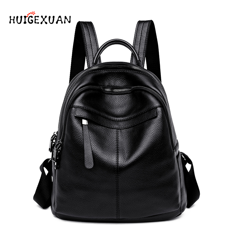 Women 100% Real Leather Backpacks Female High Quality Backpack Big Capacity Holiday Leisure Style Girl Schoolbag Big Travel Bags