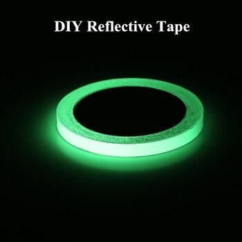 Fita autoadesiva de 12 mm * 3 M Brilha no escuro Decorações para casa Fitas de advertência Segurança Adesivo refletivo Material de segurança 1