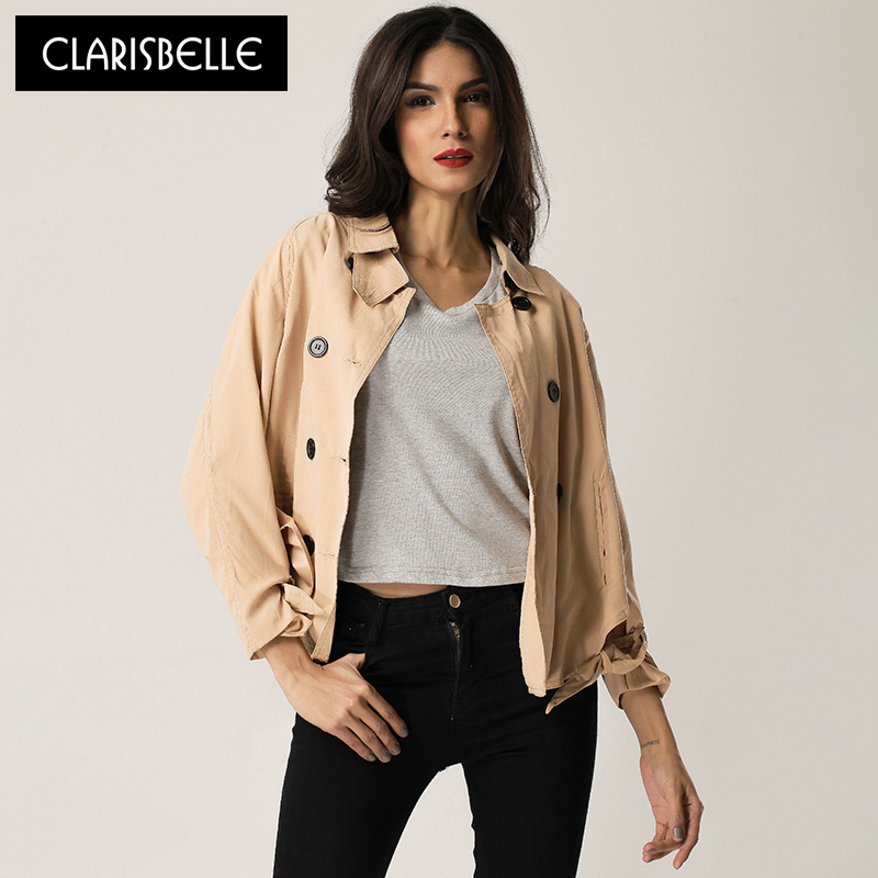 CLARISBELLE chaquetas de las mujeres abrigo de primavera/otoño mujeres de la cha