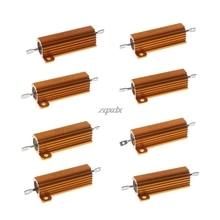 50W Vỏ Điện Nhôm Đặt Ốp Lưng Wirewound Điện Trở 0.5/1/2/4/6/8/10/20 Ohm Whosale & Trang Sức Giọt
