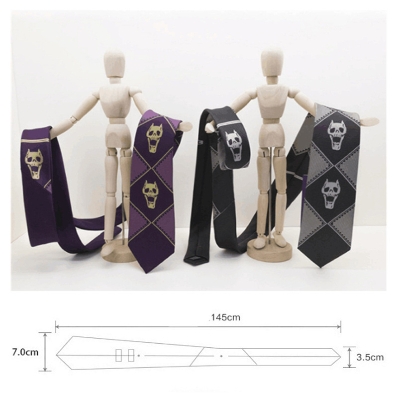 Japanese Anime JoJo Bizarre Adventure KILLER QUEEN Tie Heavens Door Kira Yoshikage Tie Cosplay Prop Tie 1pcs
