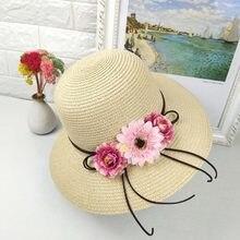 Nuevo verano sombreros de Sun señora decoración ancho de playa al aire  libre tapa sombrilla paja mujer paja sol sombrero envío g. 223058226ca