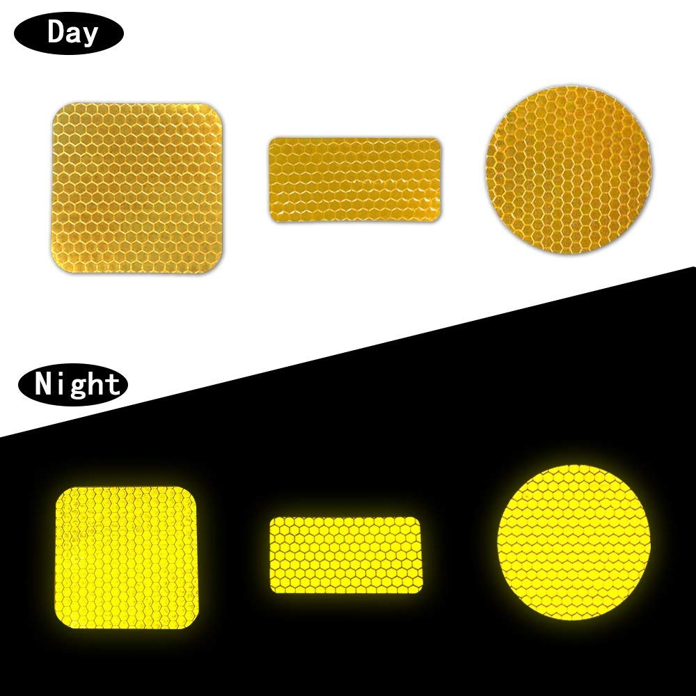Muchkey Reflective Tape Self Adhesive Safety Warning Tape stickers for Roller Skates bicycle motorcycle Yellow
