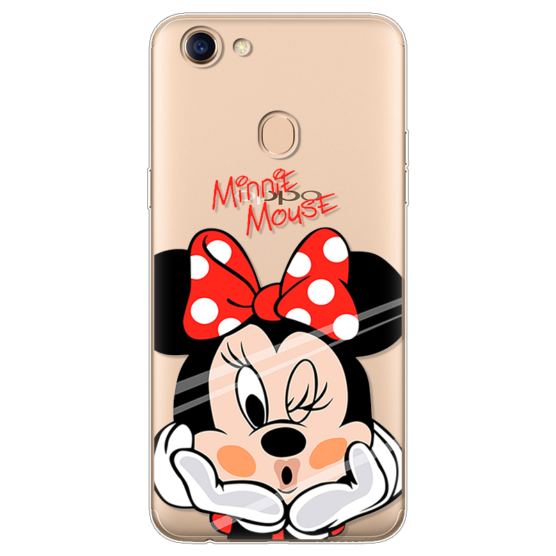 Case For OPPO F5 Case Silicone Ultra Thin Soft TPU Rubber Pineapple Transparent Clear Unicorn Minnie Back Cartoon Print Cover