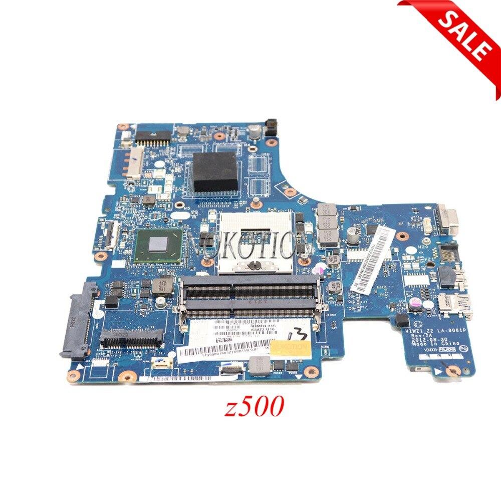 NOKOTION Mère D'ordinateur Portable pour Lenovo Ideapad z500 Série S989 La-9061P HM76 DDR3 carte Principale DVD connecteur 16 BROCHES