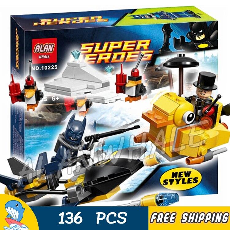 136pcs Super Heroes Batman Moive The Penguin Face Off 10225 Model Building Blocks Toy Brick exclusive Scuba Compatible With Lego