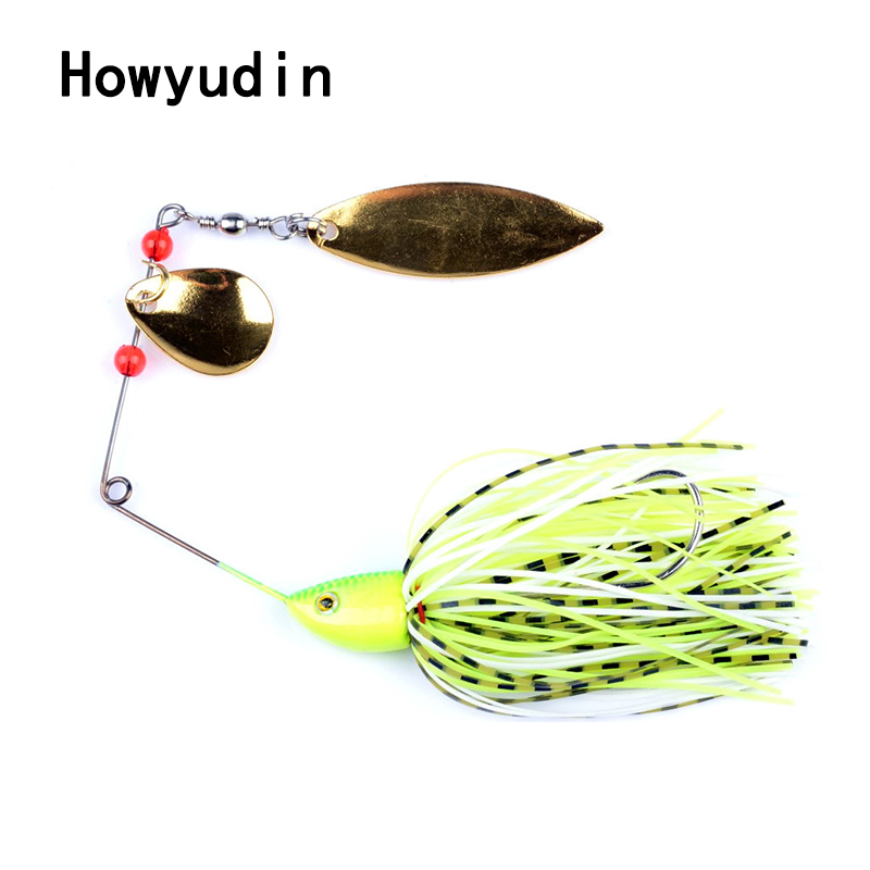 Howyudin Sequins spoon 24g spinner bait Compound type fishing lure Metal wobbler Big Hook isca artificial fishing lures leurre