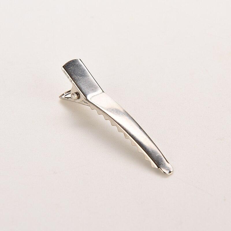 50 шт. 35/45 мм плоский металлический одного зубца Аллигатор зажим для волос шпильки заколка бант DIY Зажимы база для Для женщин Обувь для девочек