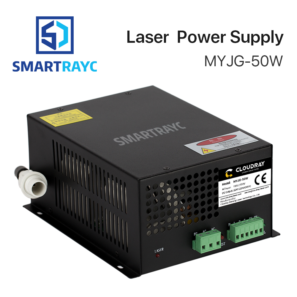 цена на Smartrayc 50W CO2 Laser Power Supply for CO2 Laser Engraving Cutting Machine MYJG-50W