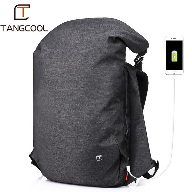 цена Tangcool Men's Backpack Casual USB Charging Waterproof Big Travel Bag College Student Computer Designer Backpack Men Fashion