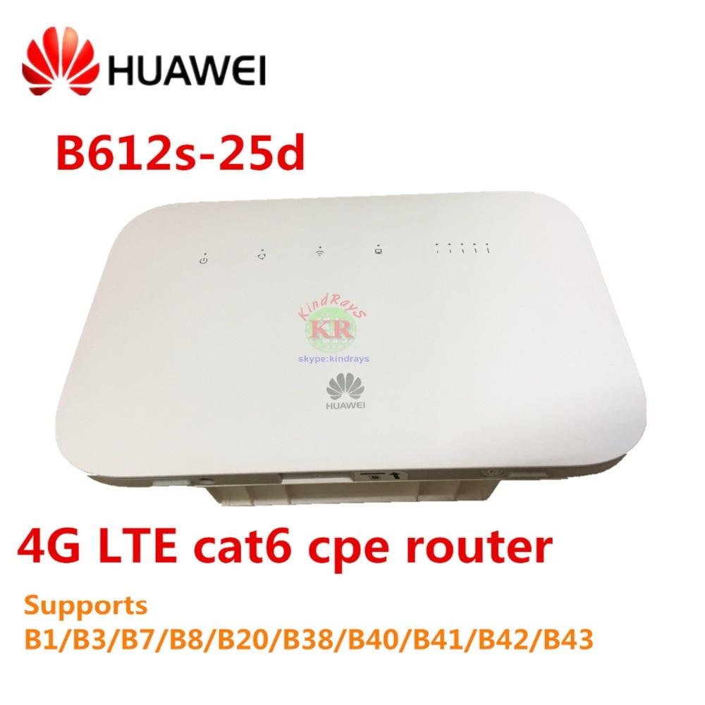 все цены на Unlocked Huawei B612 4G LTE Cat 6 CPE router B612s-25d 4G wifi router 300Mbps Mobile MIFi PK E5770