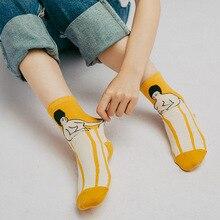10pcs=5pairs Women socks Cartoon Socks cat Patterned Cotton Casualrls Art Creative short Funny Calcetines high quality women