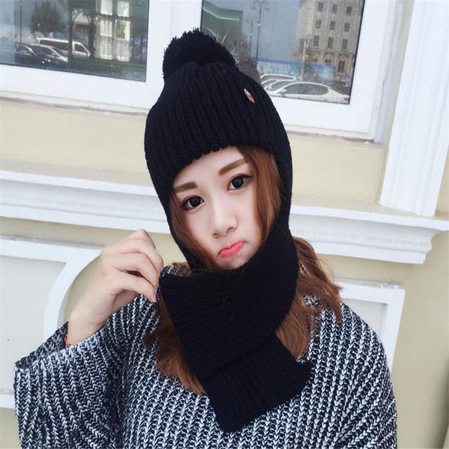 Nuevo Ruso Sombreros Para Las Mujeres 2016 Nueva moda cálida Sombrero De Esquí De Punto de Protección Del Oído Sombreros de Invierno